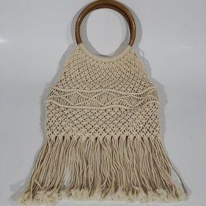 Handbags - Fringe Crochet Handbag